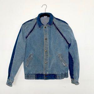 🐬VINTAGE JORDACHE🦋 Denim jacket / zips into vest